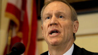 Illinois union coalition battles Rauner fair share fee ban in state courts