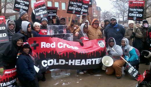 Citing public safety concerns, Red Cross workers strike