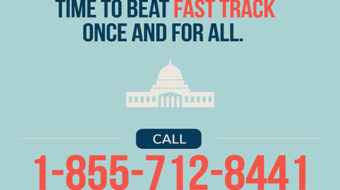 Final countdown to stop TPP: call today