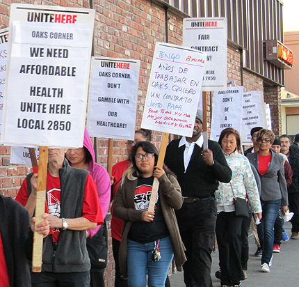 Restaurant workers picket for fair contract and respect