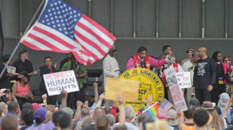 At start of N.C. voting rights trial, activists take to the streets