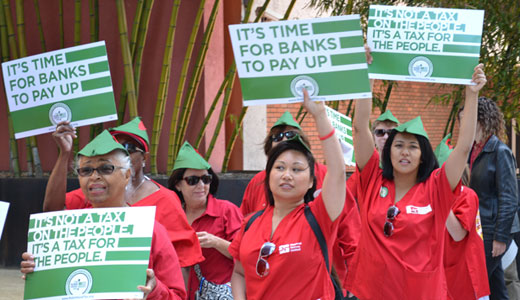 Nurses and lawmakers resume push for financial transactions tax