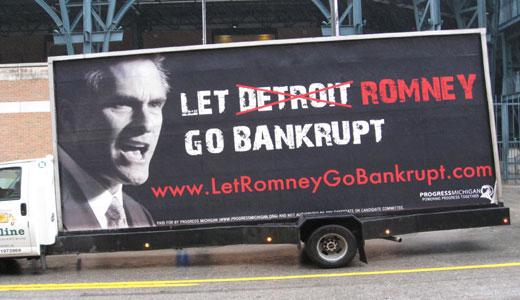 Autoworkers say: Let Romney go bankrupt