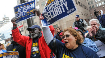 Retirees rally at Ohio commission hearing