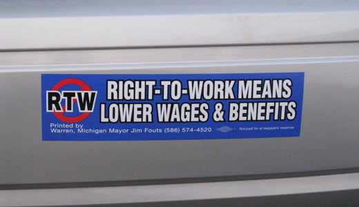 "Michigan mayor spearheads push vs. ""right to work"""