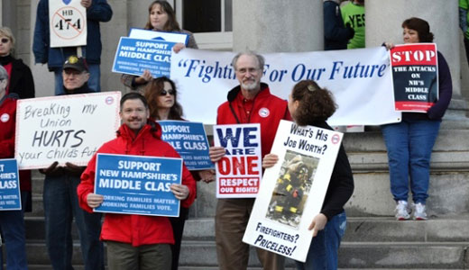 Right to work for less dies in New Hampshire