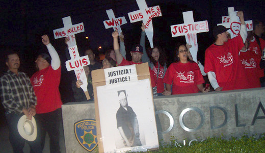 Vigil marks police slaying of farmworker