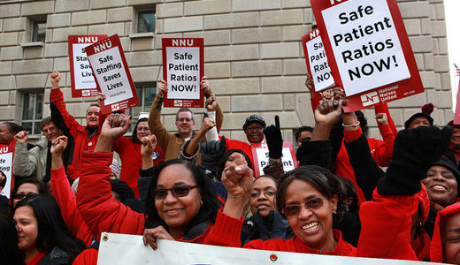 Nurses celebrate their day by protesting in Washington