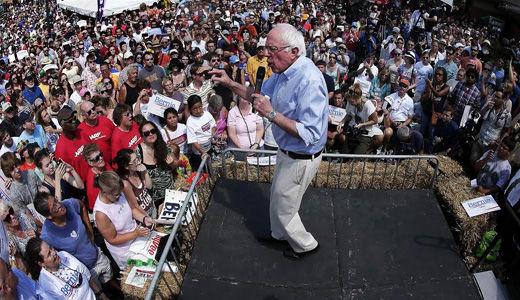 Sanders surging nationally as Iowa caucuses draw near