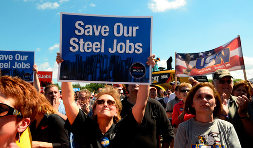 Steel job layoffs highlight need for new trade, infrastructure policies