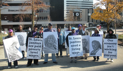 Missouri janitors fight poverty wages