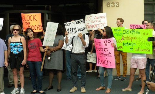 Subscribers protest Koch brothers Orlando Sentinel grab