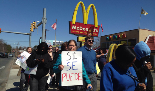 Hartford fast-food workers protest wage theft