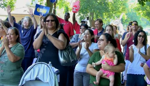 Chicago Southeast Side rally for teachers (with video)