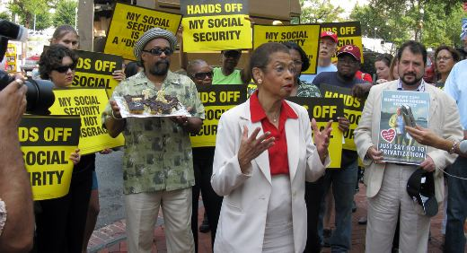 Benefit cuts in Obama's 'compromise' budget draw protests