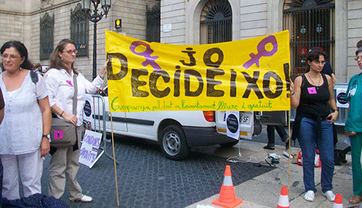Spanish women demand abortion rights