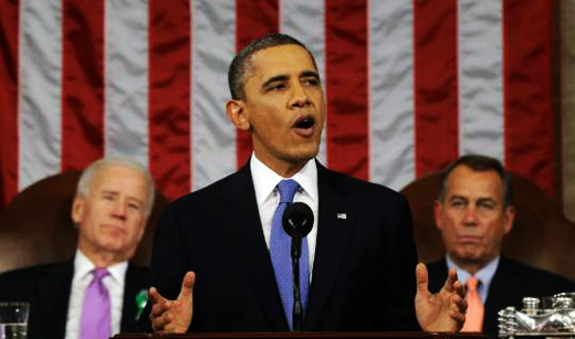 Obama launches jobs drive with State of Union speech