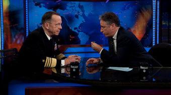 Dueling Colbert, Stewart rallies light a fire