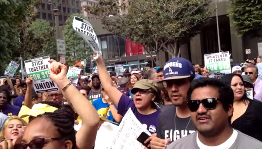 Fast food workers on West Coast were part of national strikes