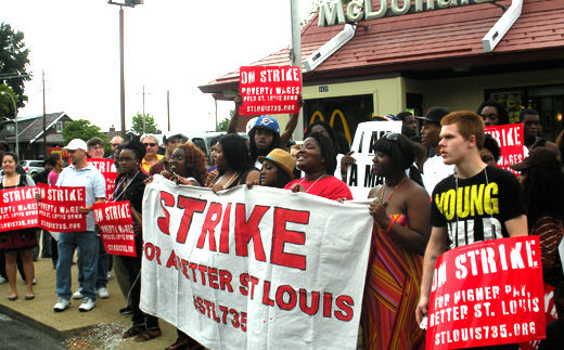"Fast food workers plan civil disobedience as employers ""freak out"" over NLRB ruling"