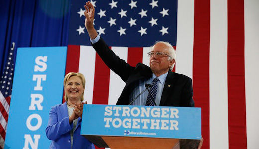 "Sanders and Clinton: ""We're stronger together"""