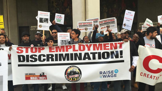 Workers tell Los Angeles: Stop job discrimination!