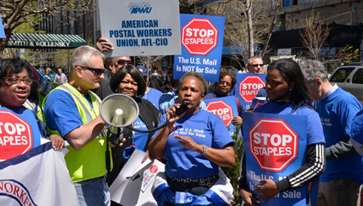 Postal workers march to save the mail in 50 states
