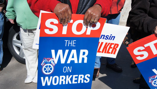 Wisconsin's anti-collective bargaining law struck down