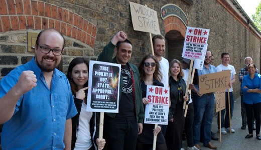 Staff of British left-wing Morning Star strike over Tory union restrictions