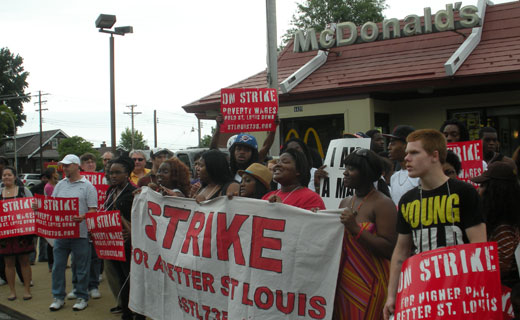 Fast-food workers super-size protests in Missouri and elsewhere