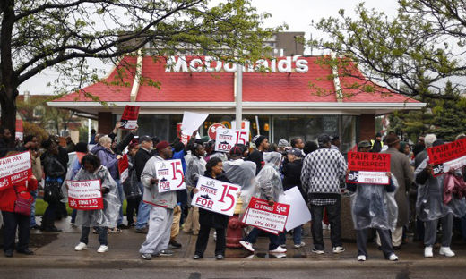 Workers call McDonald's hourly wage raise a PR gimmick