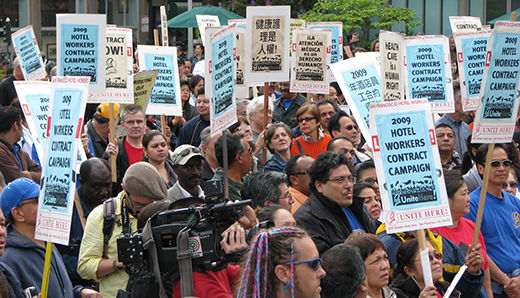Hotel workers overwhelmingly authorize a strike