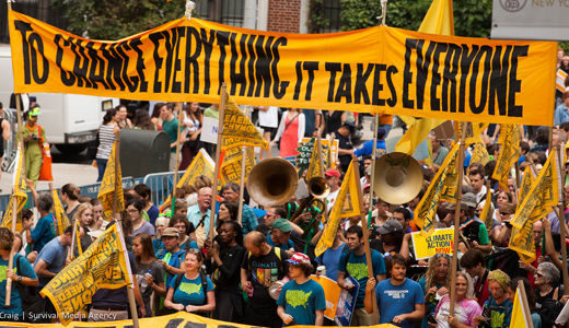 From trains to streets, Climate March moved people