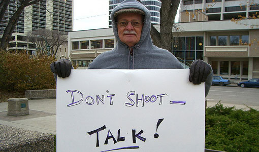 It's simple: Talk, don't shoot