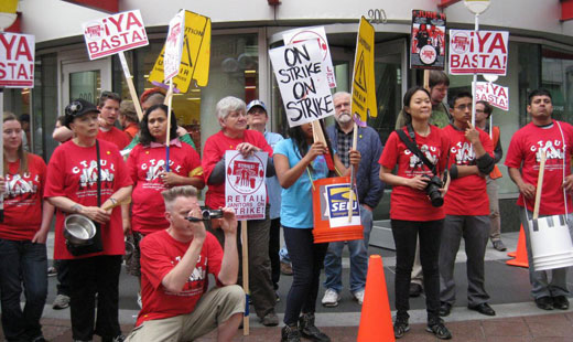 Target stores the target of two-day strike