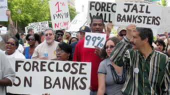 Protesters charge Bank of America received $1.9 billion tax refund