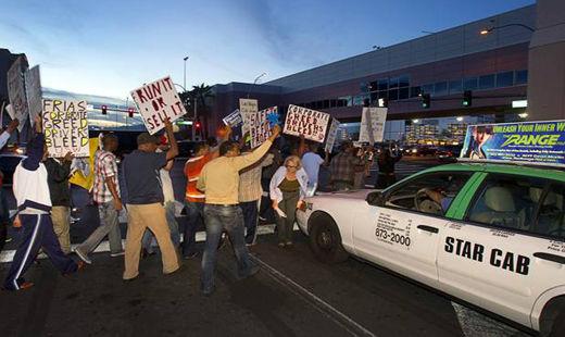 Las Vegas cab company forces a strike