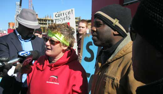 Demonstrators to Temple U.: Practice some diversity; union jobs for all