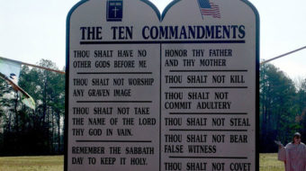 Ten Commandments monument spurs controversy in Oklahoma