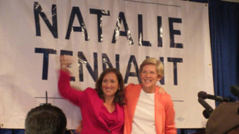 Elizabeth Warren stumps for Tennant in West Virginia