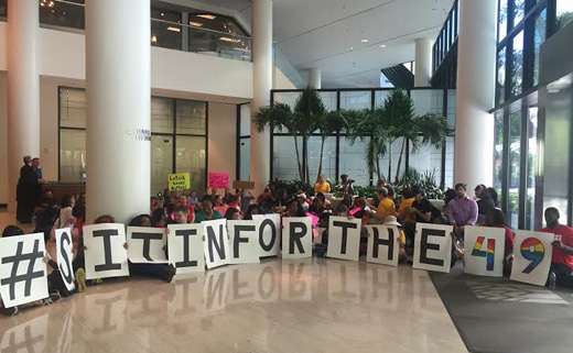 Eight Orlandoans arrested at Rubio's office for sit-in against gun violence