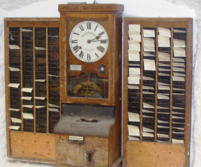Today in labor history: Employee time clock invented