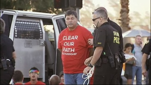 Police arrest 15 at immigration reform action in Florida