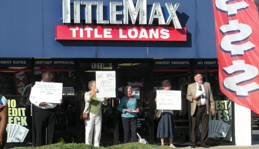 Across Missouri, protests against payday loan decision