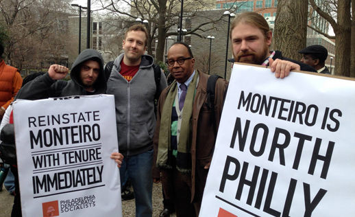 Students and community rally in support of Temple U. professor Anthony Monteiro