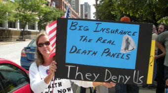 Rally slams Wellpoint for 'indefensible' health care role
