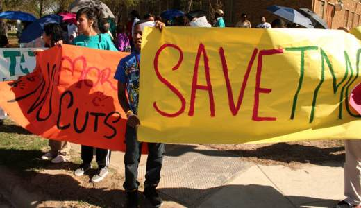 "Dallas residents: ""Save our schools"""