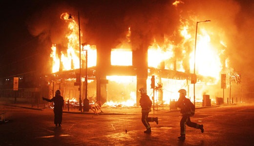 "British riots spurred by ""greed is good"" society"