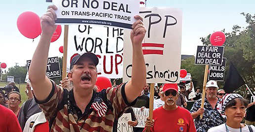 Union leaders and immigrants' rights advocates: new trade pacts disastrous
