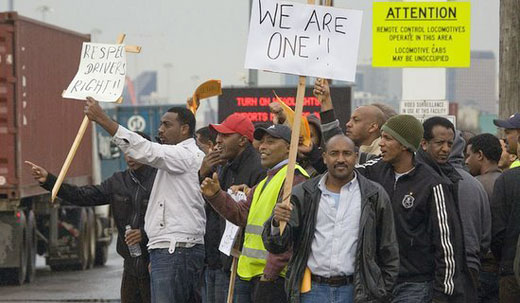 Truckers force port to talk and lawmakers to act